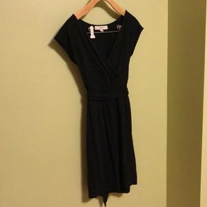 Black cotton/modal dress